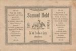 Werbung Kaufhaus Samuel Held